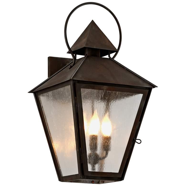 """Allston 24"""" High Natural Rust Outdoor Wall Light"""