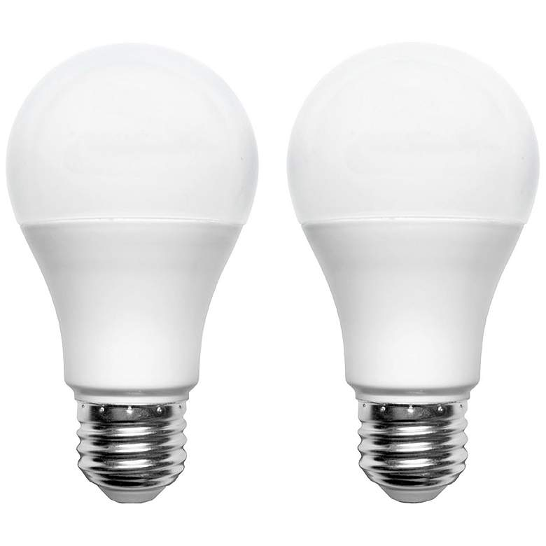 60W Equivalent Frosted 9W A19 LED Non-Dimmable Bulb 2-Pack
