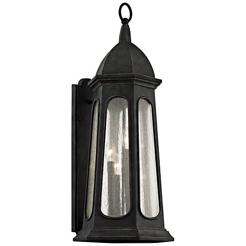 "Astor 30 3/4"" High Vintage Iron Outdoor Wall Light"