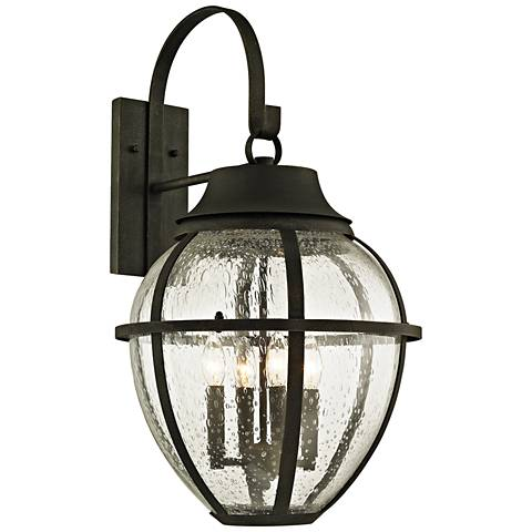 "Bunker Hill 28 1/4"" High Vintage Bronze Outdoor Wall Light"