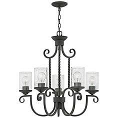Black chandeliers lamps plus hinkley casa 25 wide olde black 5 light chandelier aloadofball Images