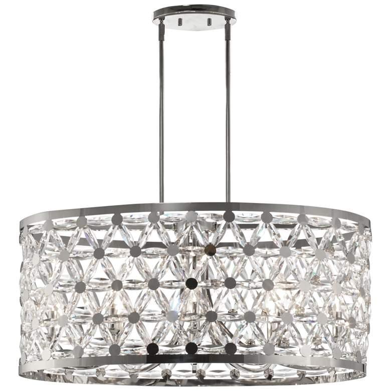 "Maxim Cassiopeia 33"" Wide Polished Nickel Pendant Light"