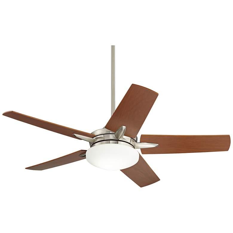 "56"" Casa Endeavor® Nickel Cherry Teak LED Ceiling Fan"