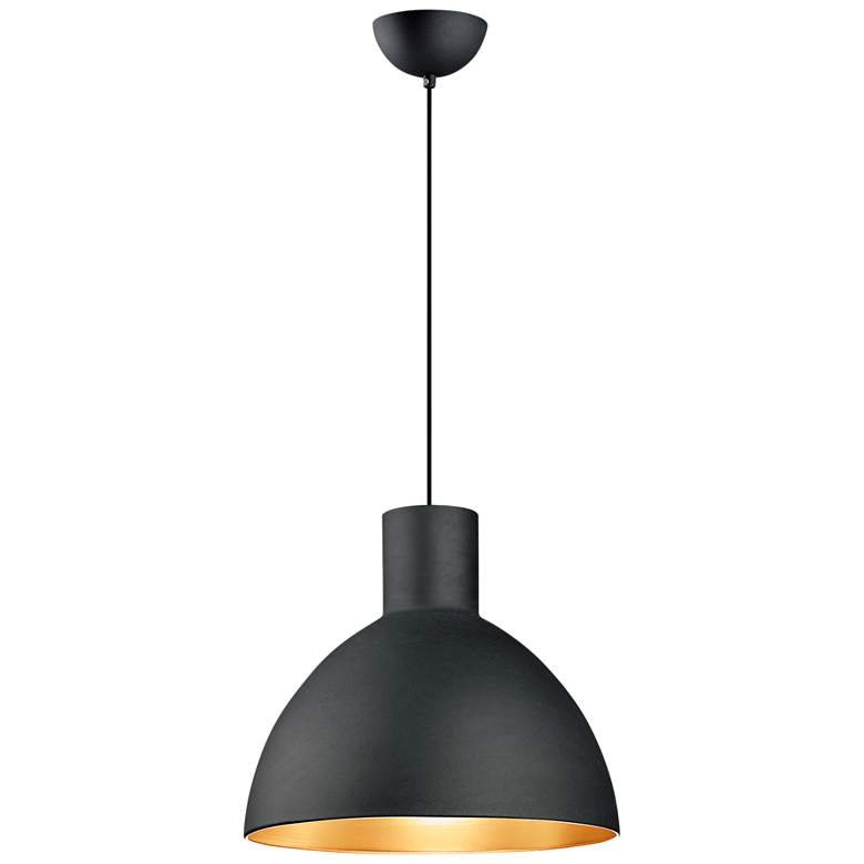 "Maxim Cora 19 3/4"" Wide Black and Gold Pendant Light"