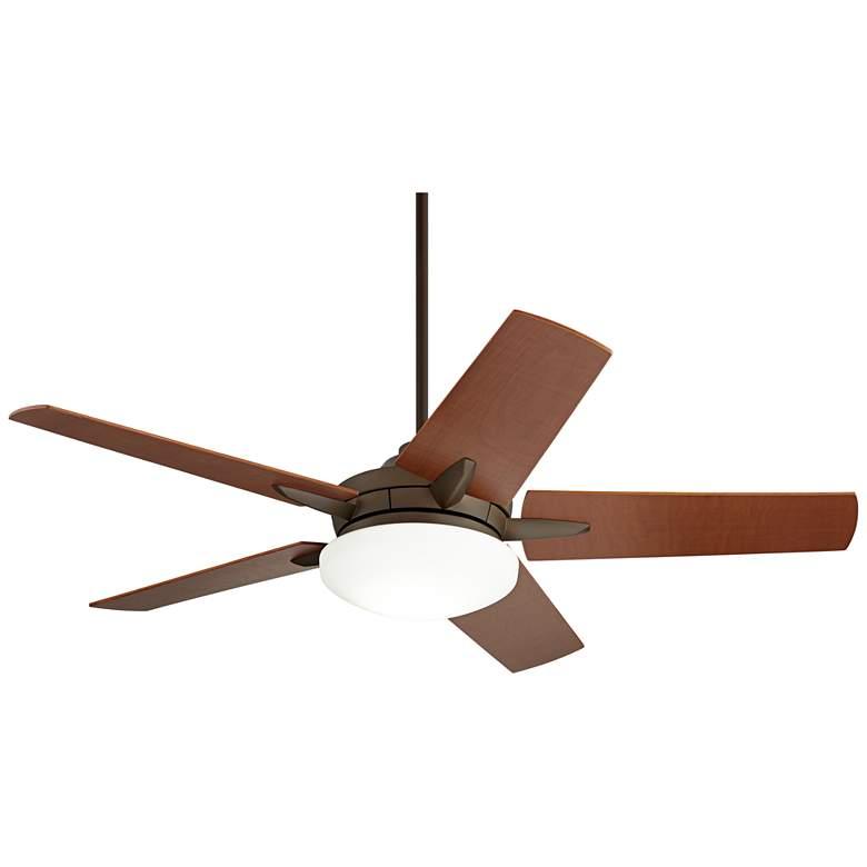 """56"""" Casa Endeavor Oil Rubbed Bronze Walnut LED Ceiling Fan"""