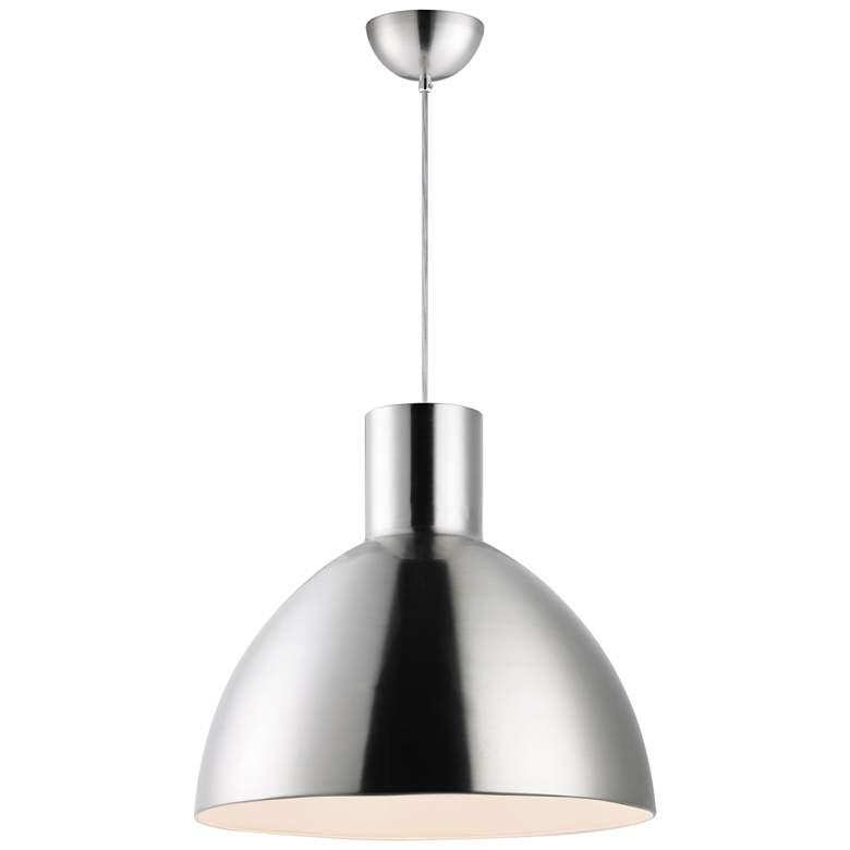 "Maxim Cora 19 3/4"" Wide Satin Nickel Pendant Light"