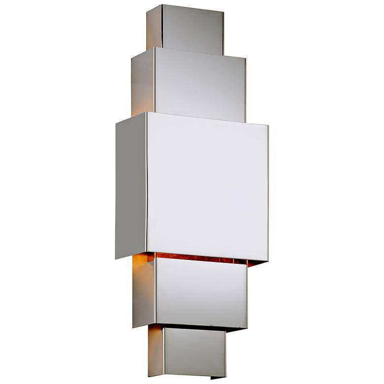"""Figueroa 22"""" High Polished Stainless LED Outdoor Wall Light"""
