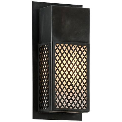 "Ibiza 13"" High Charred Bronze Outdoor Wall Light"