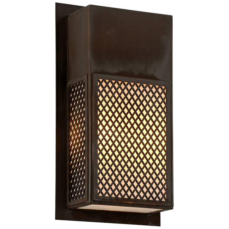 "Ibiza 17 1/2"" High Natural Rust Outdoor Wall Light"