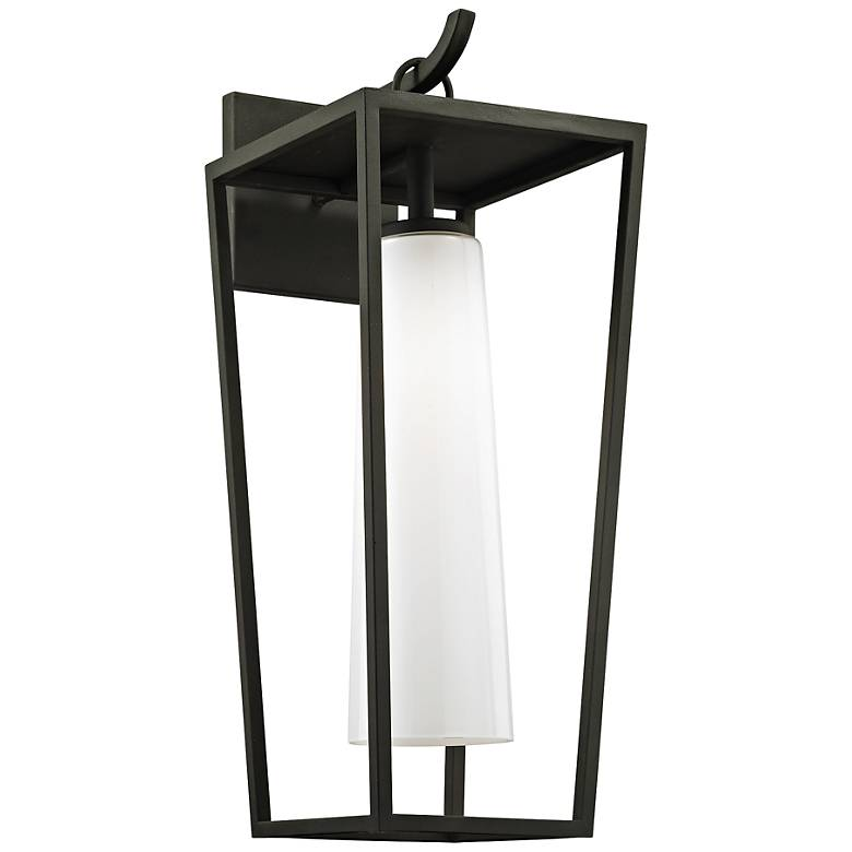 "Mission Beach 23"" High Textured Black Outdoor Wall Light"