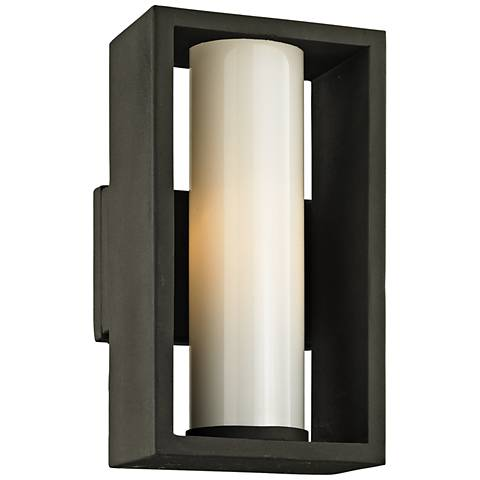 "Mondrian 12"" High Textured Bronze Outdoor Wall Light"