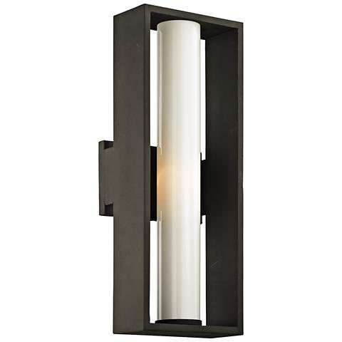 """Mondrian 17 3/4"""" High Textured Bronze Outdoor Wall Light"""