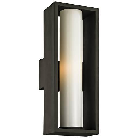 """Mondrian 23 1/4"""" High Textured Bronze Outdoor Wall Light"""
