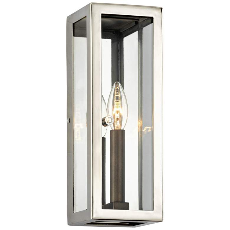 """Morgan 12 1/2"""" High Polished Stainless Outdoor Wall Light"""