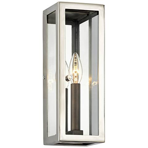 "Morgan 12 1/2"" High Polished Stainless Outdoor Wall Light"