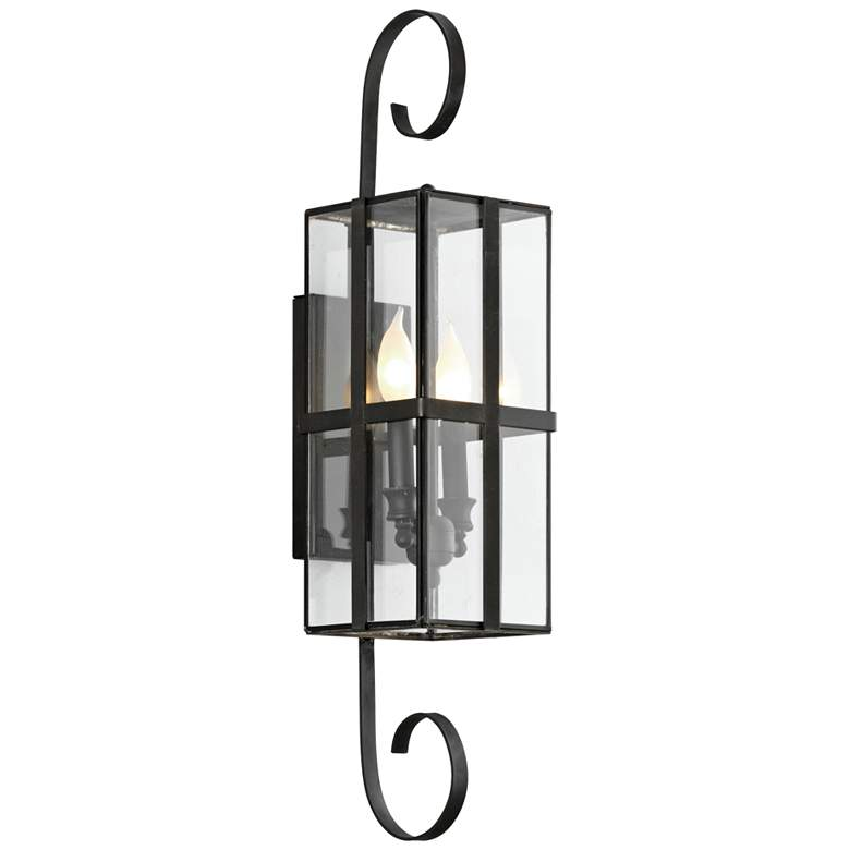 """Rutherford 26 3/4"""" High Charred Bronze Outdoor Wall Light"""
