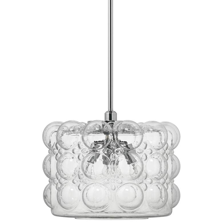 "Jamie Young Cici 19"" Wide Clear Glass Large 3-Light Pendant"