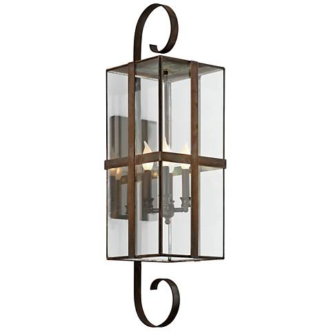 """Rutherford 35 1/2"""" High Natural Rust Outdoor Wall Light"""