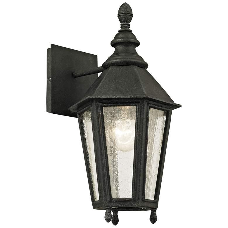 """Savannah 14 3/4"""" High Vintage Iron Outdoor Wall Light"""