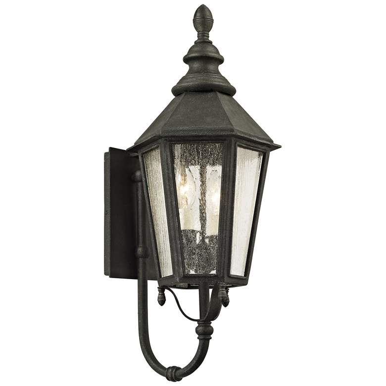 """Savannah 23 1/4"""" High Vintage Iron Outdoor Wall Light"""