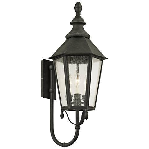 """Savannah 29 1/2"""" High Vintage Iron Outdoor Wall Light"""