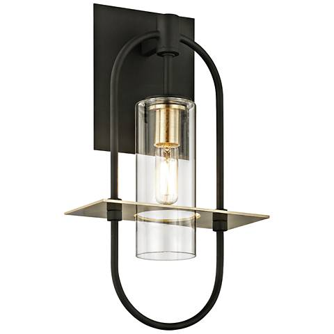 "Smyth 14"" High Dark Bronze Outdoor Wall Light"