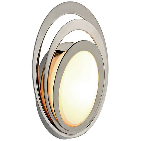 "Stratus 11 1/4""H Polished Stainless LED Outdoor Wall Light"