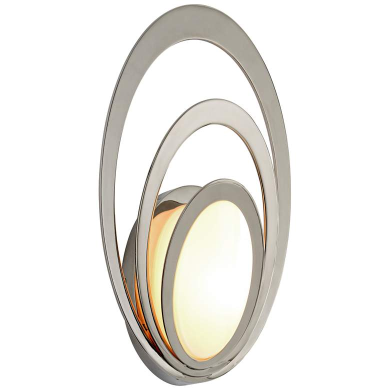 """Stratus 15"""" High Polished Stainless LED Outdoor Wall Light"""