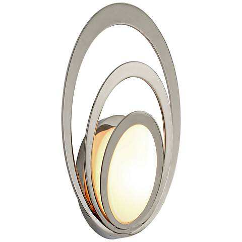 "Stratus 15"" High Polished Stainless LED Outdoor Wall Light"