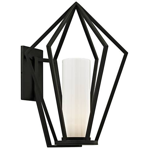 "Whitley Heights 25"" High Textured Black Outdoor Wall Light"