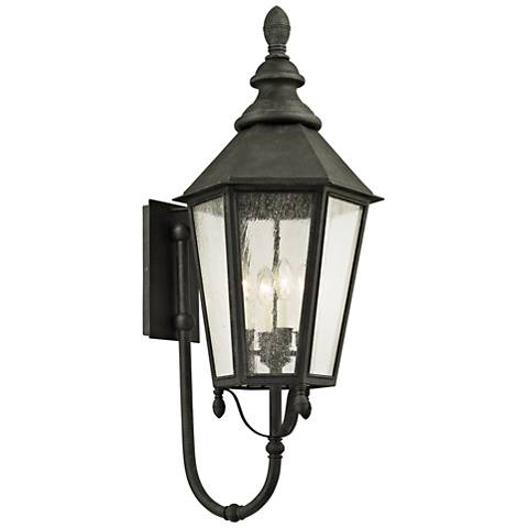 "Savannah 37"" High Vintage Iron Outdoor Wall Light"