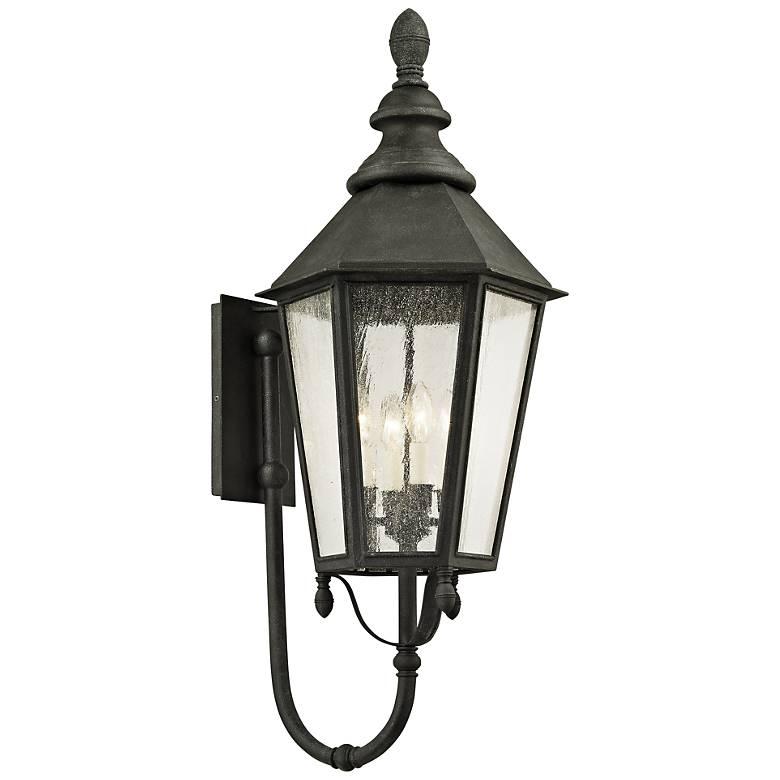 """Savannah 37"""" High Vintage Iron Outdoor Wall Light"""