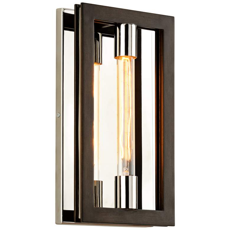 "Enigma 14"" High Bronze Modern Wall Sconce"