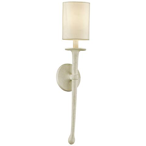 "Faulkner 24"" High Gesso White Wall Sconce"
