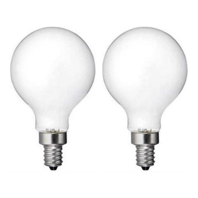 60W Equivalent Frosted 4.5W LED Dimmable Candelabra 2-Pack