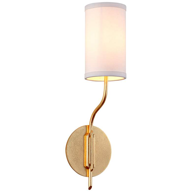 "Juniper 21"" High Textured Gold Leaf Wall Sconce"