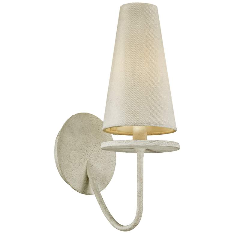 "Marcel 14 1/4"" High Gesso White Wall Sconce"