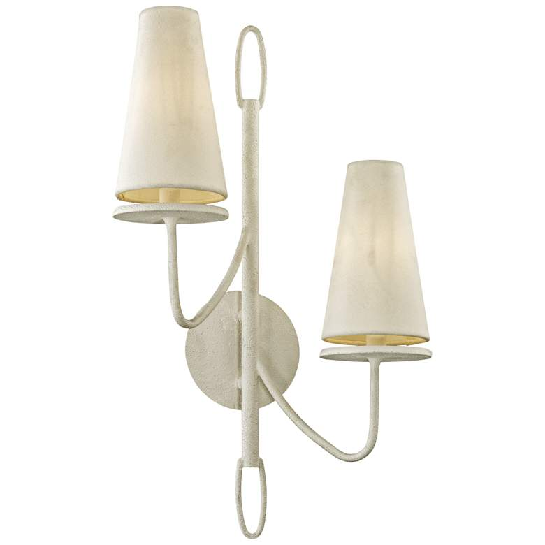 """Marcel 23 1/2"""" High Gesso White 2-Light Wall"""