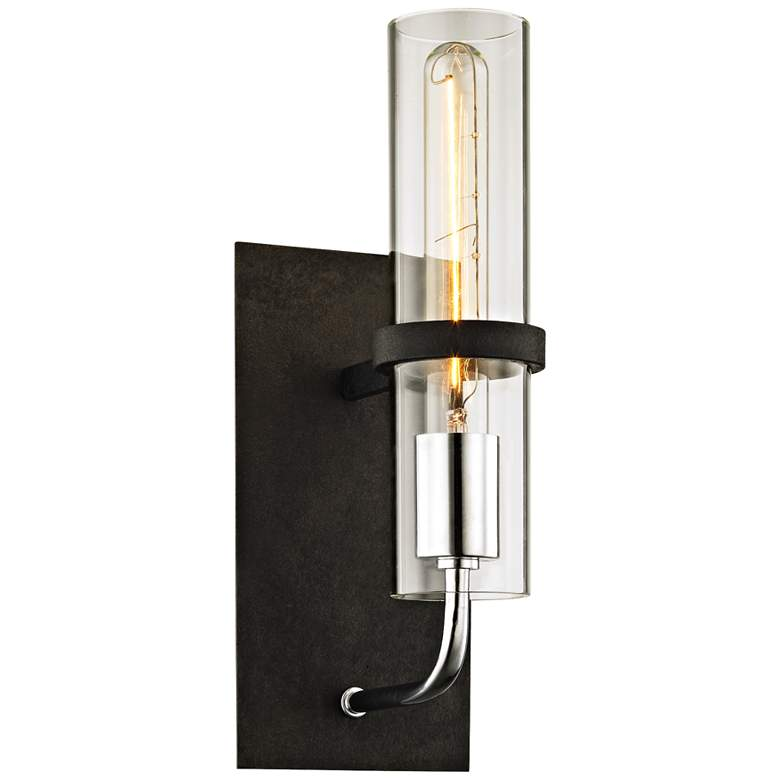 """Xavier 13 1/2"""" High Vintage Iron Wall Sconce"""