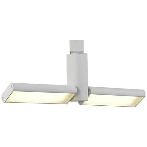 Two White 35 Watt LED Flat Metal Track Heads