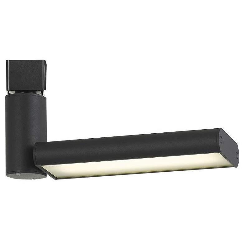 Black 17 Watt LED One Flat Metal Track