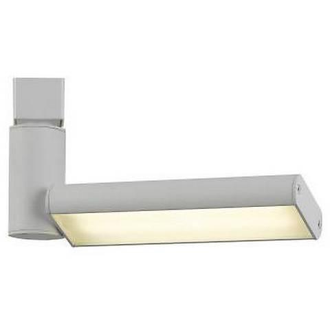 White 17 Watt LED One Flat Metal Track Head