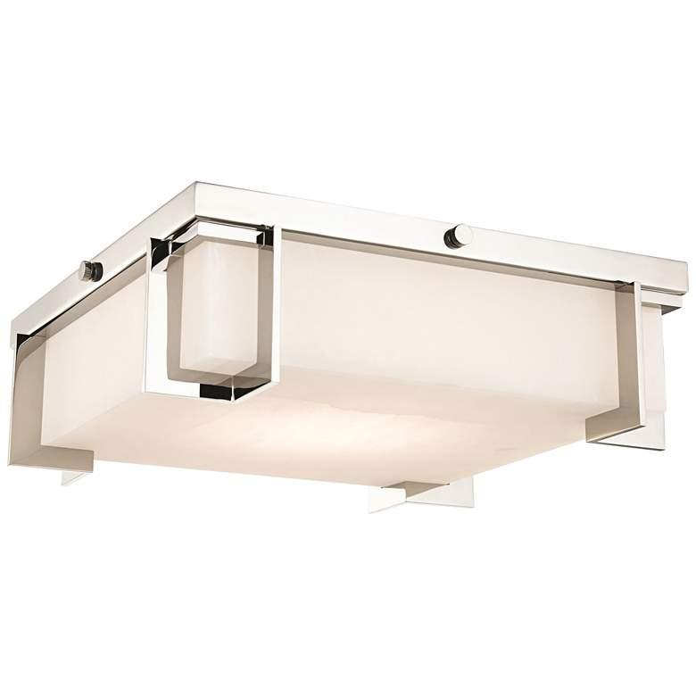 "Hudson Valley Delmar 13""W Polished Nickel LED Ceiling Light"