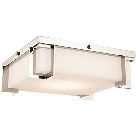 "Hudson Valley Delmar 13""W Polished Nickel LED Ceiling Light"