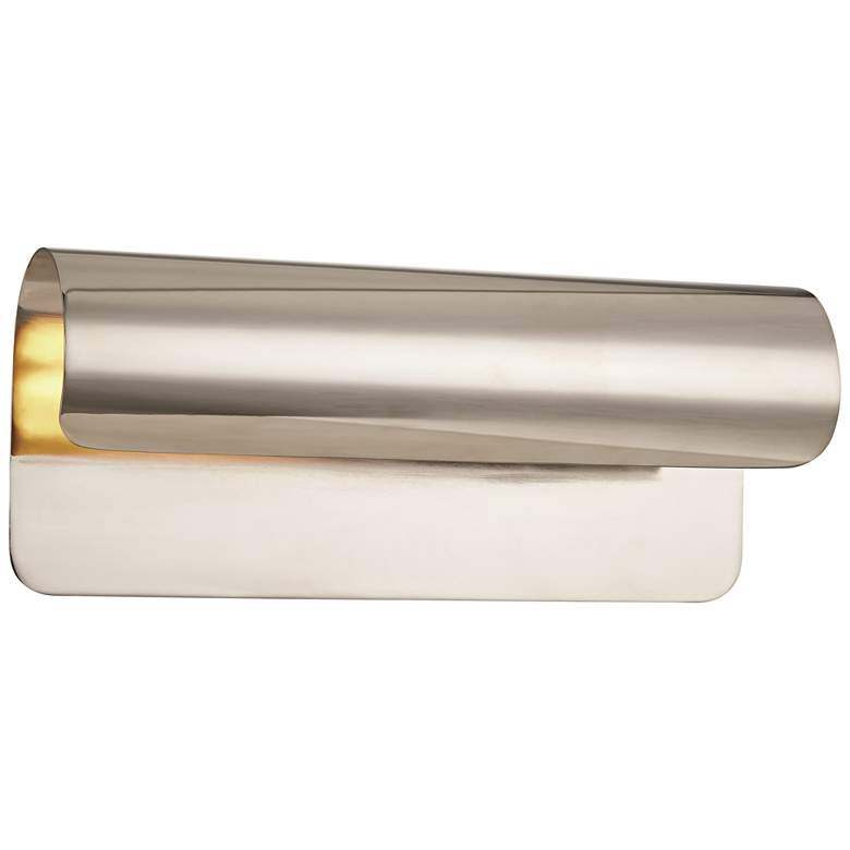 """Hudson Valley Accord 5 1/2""""H Polished Nickel Wall Sconce"""