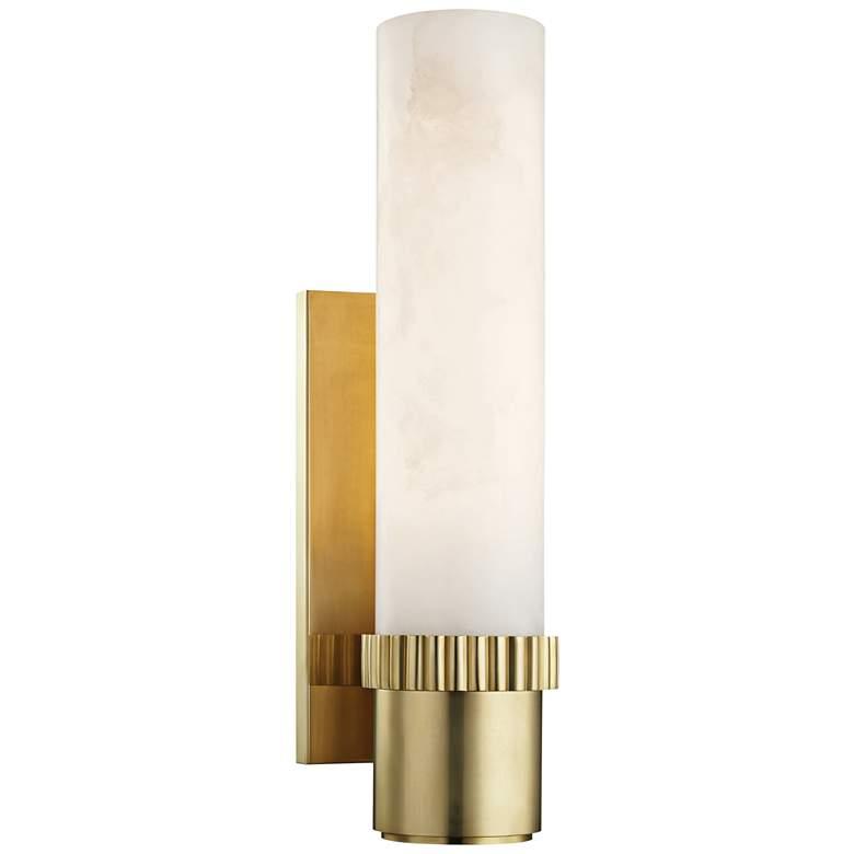 "Hudson Valley Argon 15"" High Aged Brass LED"