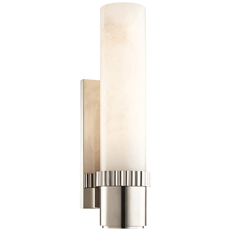 "Hudson Valley Argon 15"" High Polished Nickel LED Wall Sconce"