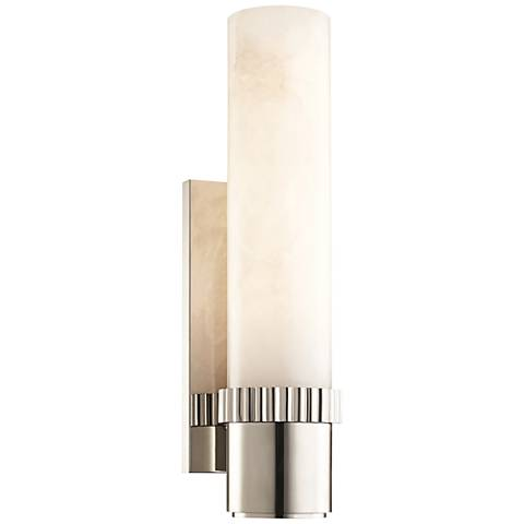 """Hudson Valley Argon 15"""" High Polished Nickel LED Wall Sconce"""