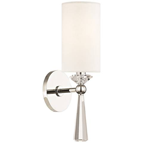 "Hudson Valley Birch 14 3/4"" High Polished Nickel Wall Sconce"