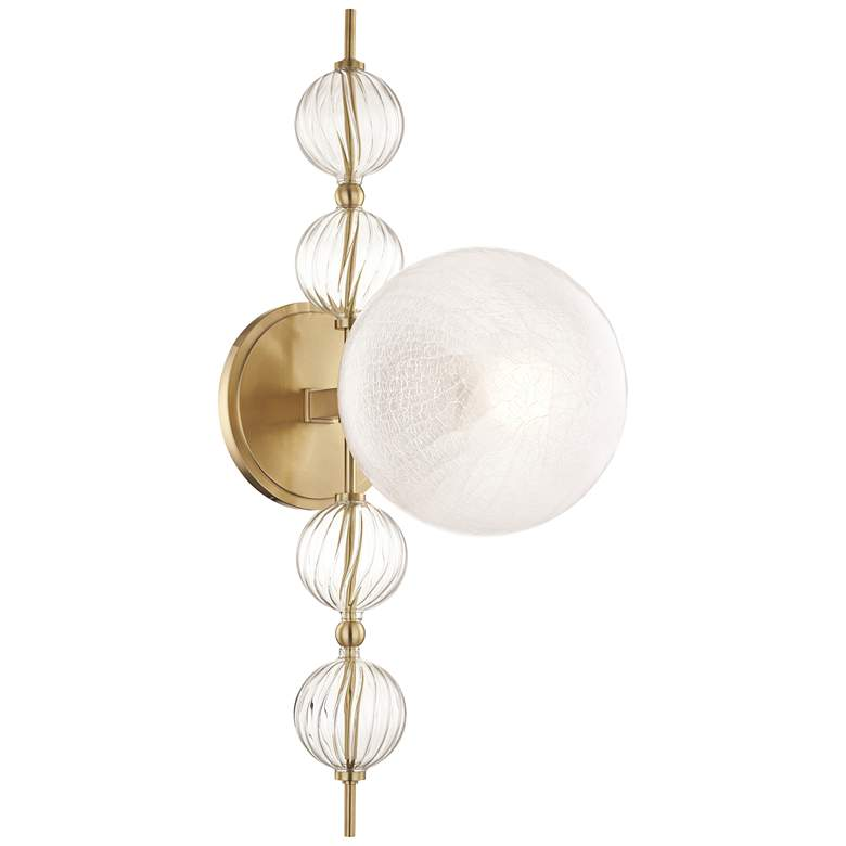 """Hudson Valley Calypso 22"""" High Aged Brass Wall Sconce"""